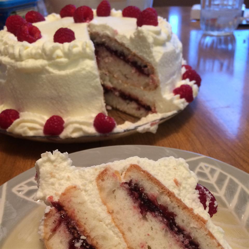 Lemon Raspberry White Chocolate Mousse Cake allyberry