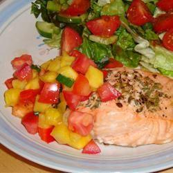 Salmon with Fruit Salsa Gitano
