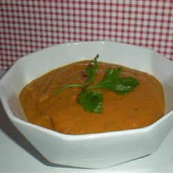 Carrot Chile and Cilantro Soup TheBritishBaker