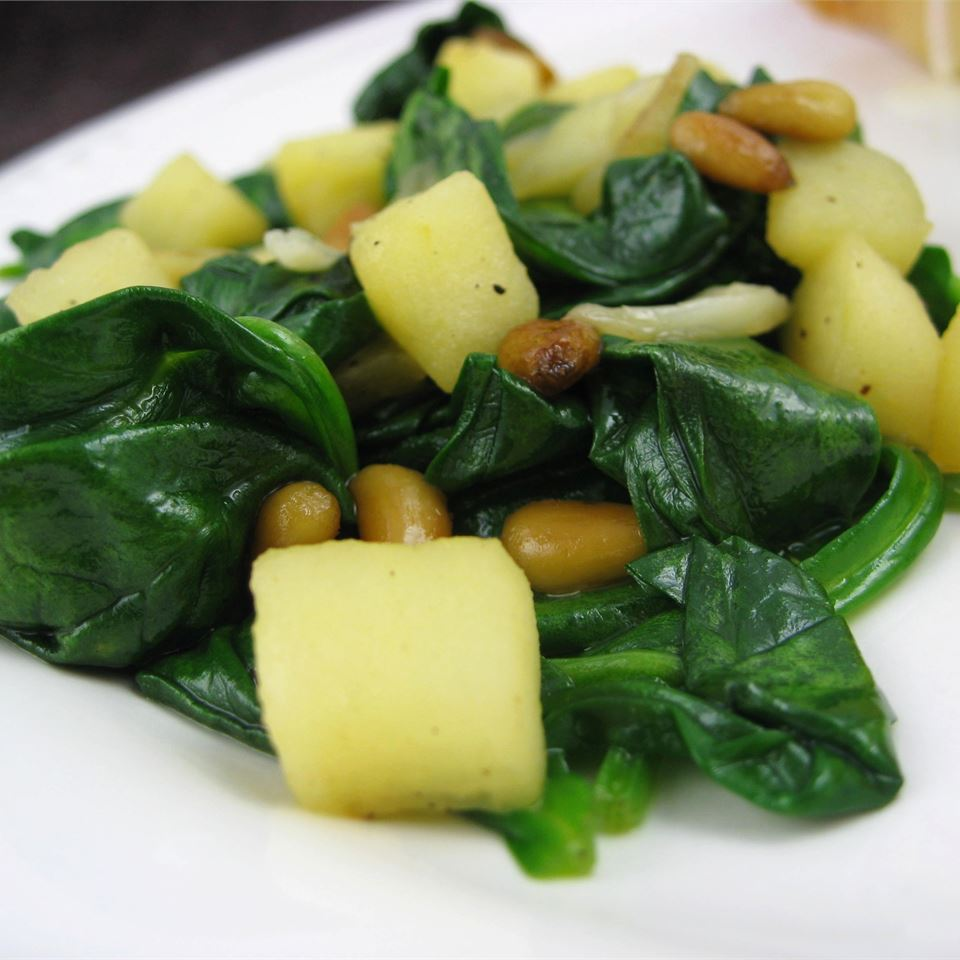 Spinach with Apples and Pine Nuts Dianne