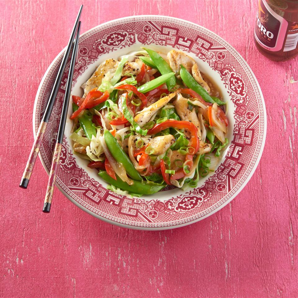 Garlic Chicken Stir Fry Allrecipes Magazine