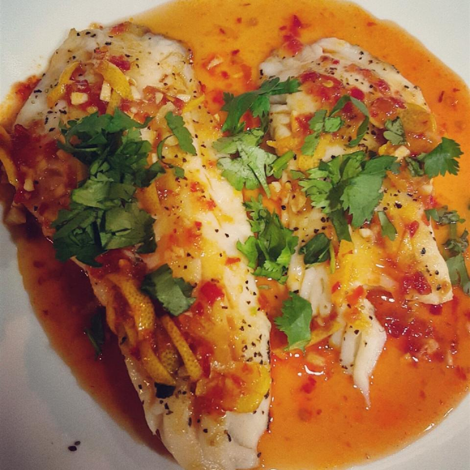 Grilled Sea Bass with Chili-Lime Dressing