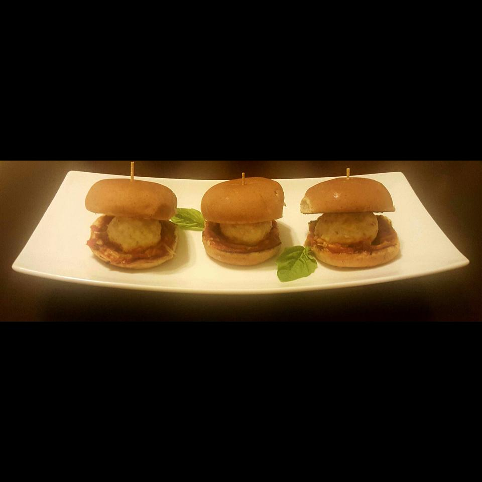 Chicken Parmesan Meatball Sliders KellyDB