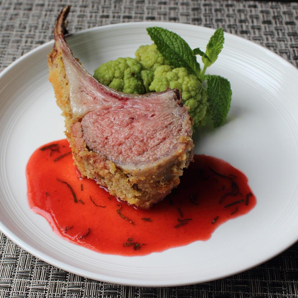 Rack of Lamb with Strawberry Mint Sauce
