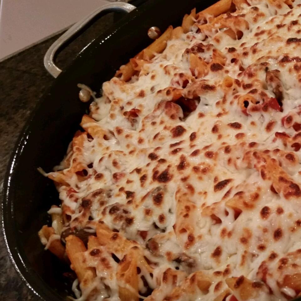 Smoked Sausage Pizza Pasta Skillet