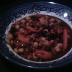 Slow Cooker Ham and Bean Stew BW