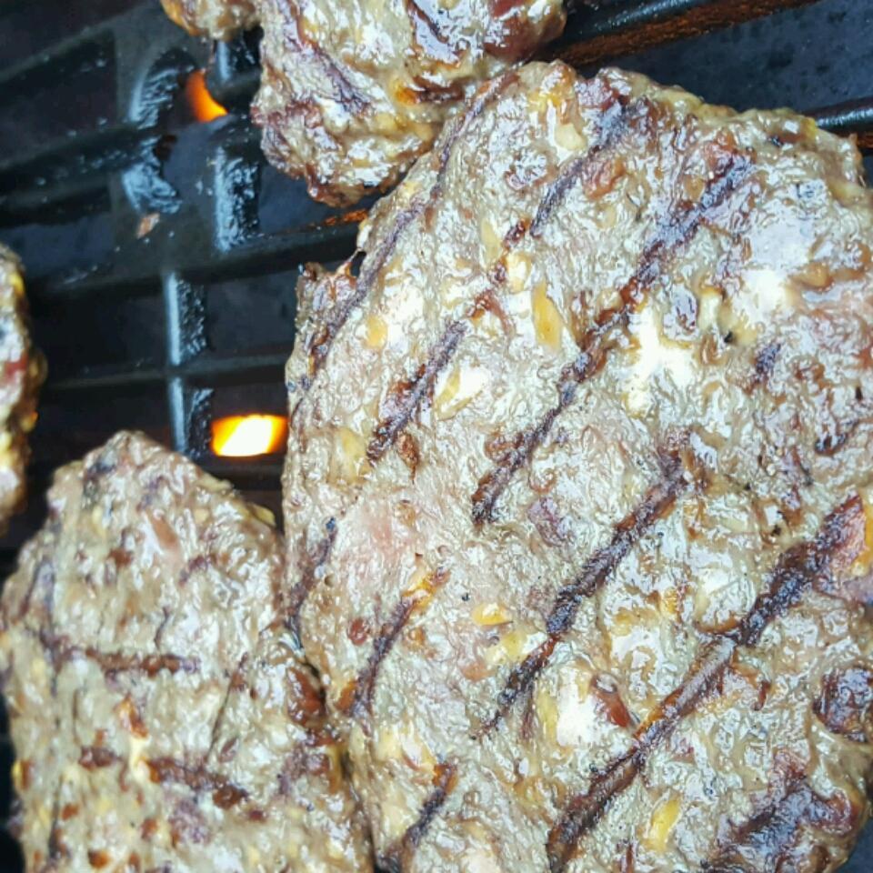 Cheddar Bacon Hamburgers Monica m