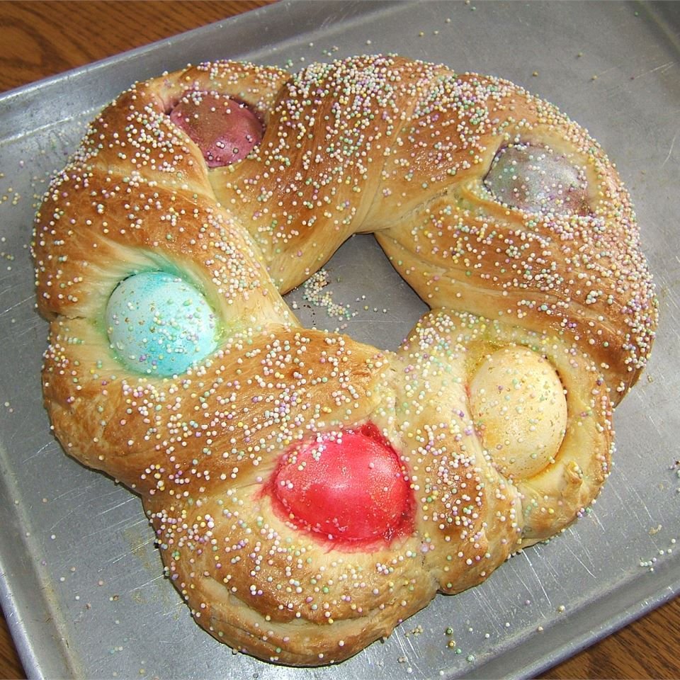 Braided Easter Egg Bread Coco