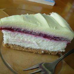 Lavishly Luscious Lemon Raspberry Cheesecake larkspur