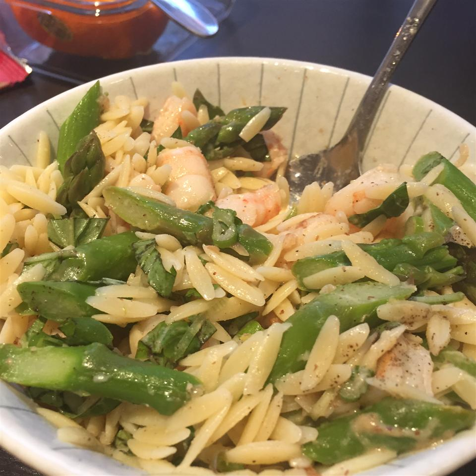Orzo and Shrimp Salad with Asparagus njwjudy