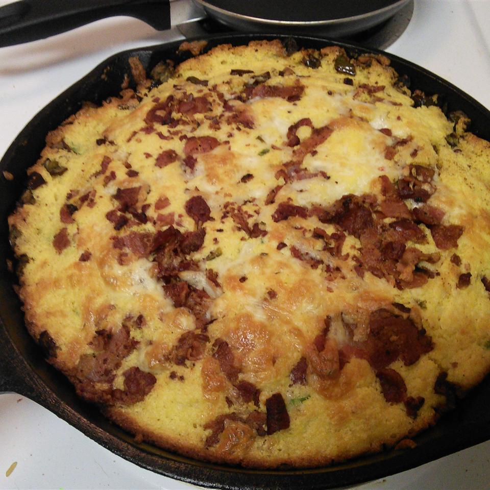 Cheesy Bacon Jalapeno Skillet Cornbread Patrick B