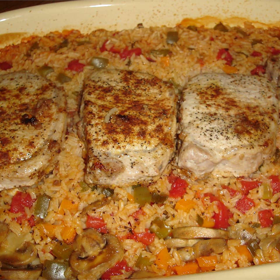 """""""AWESOME!"""" raves Brenda. """"My family gave this one-dish pork chop meal thumbs up and want it again. It was so easy to prepare and had all """"good"""" healthy stuff in it. I did my cleaning up while it was in the oven and was all done."""""""
