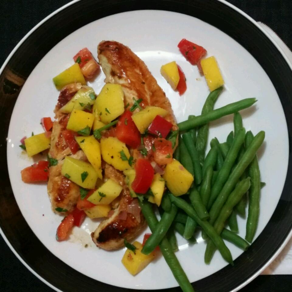 Spicy Grilled Chicken with Mango Salsa Jenn