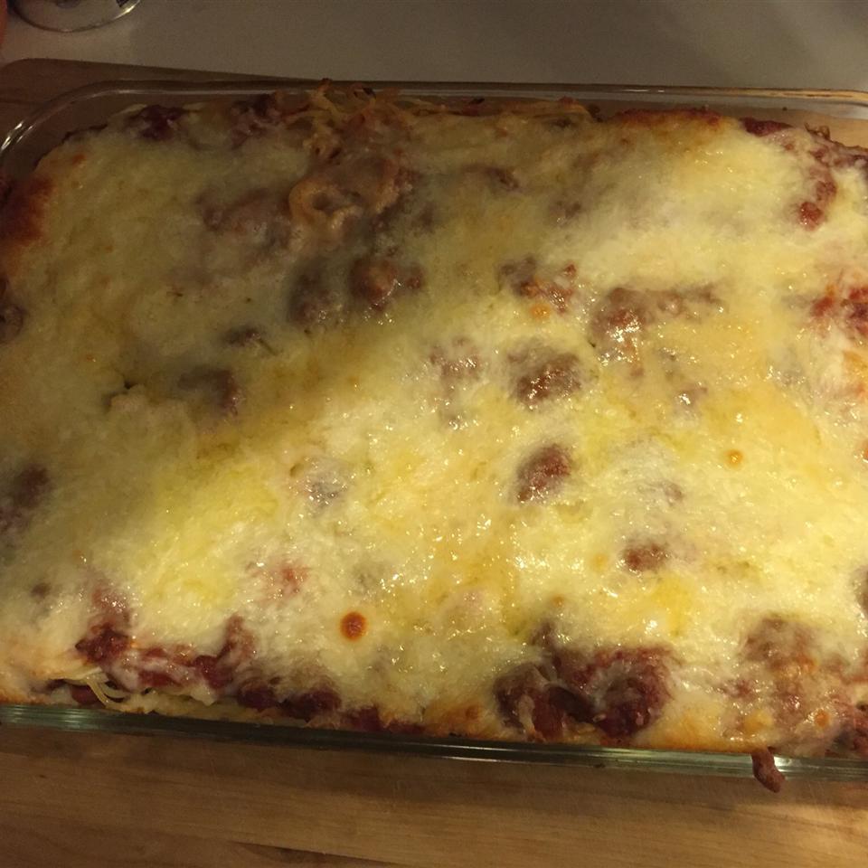 Aunt Barb's Spaghetti Pie LisaM