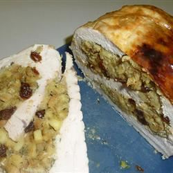 Turkey Breast Roulade with Apple and Raisin Stuffing