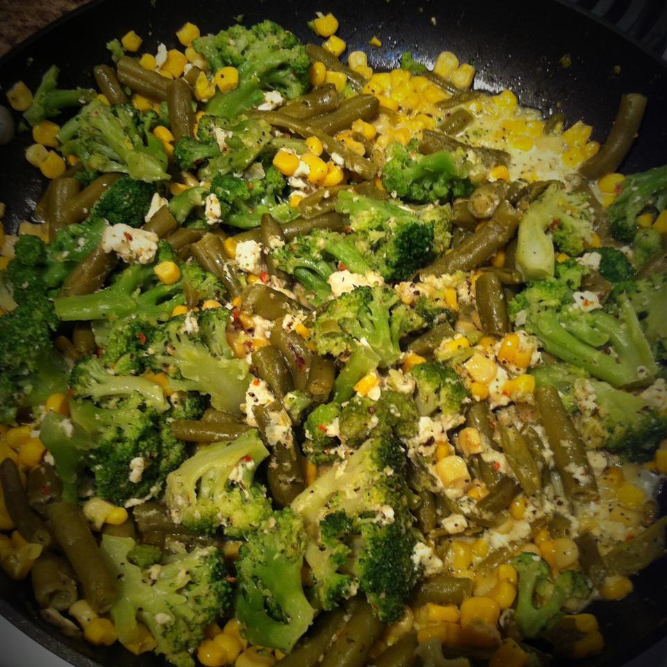 Broccoli, Corn, and Green Bean Saute MBC