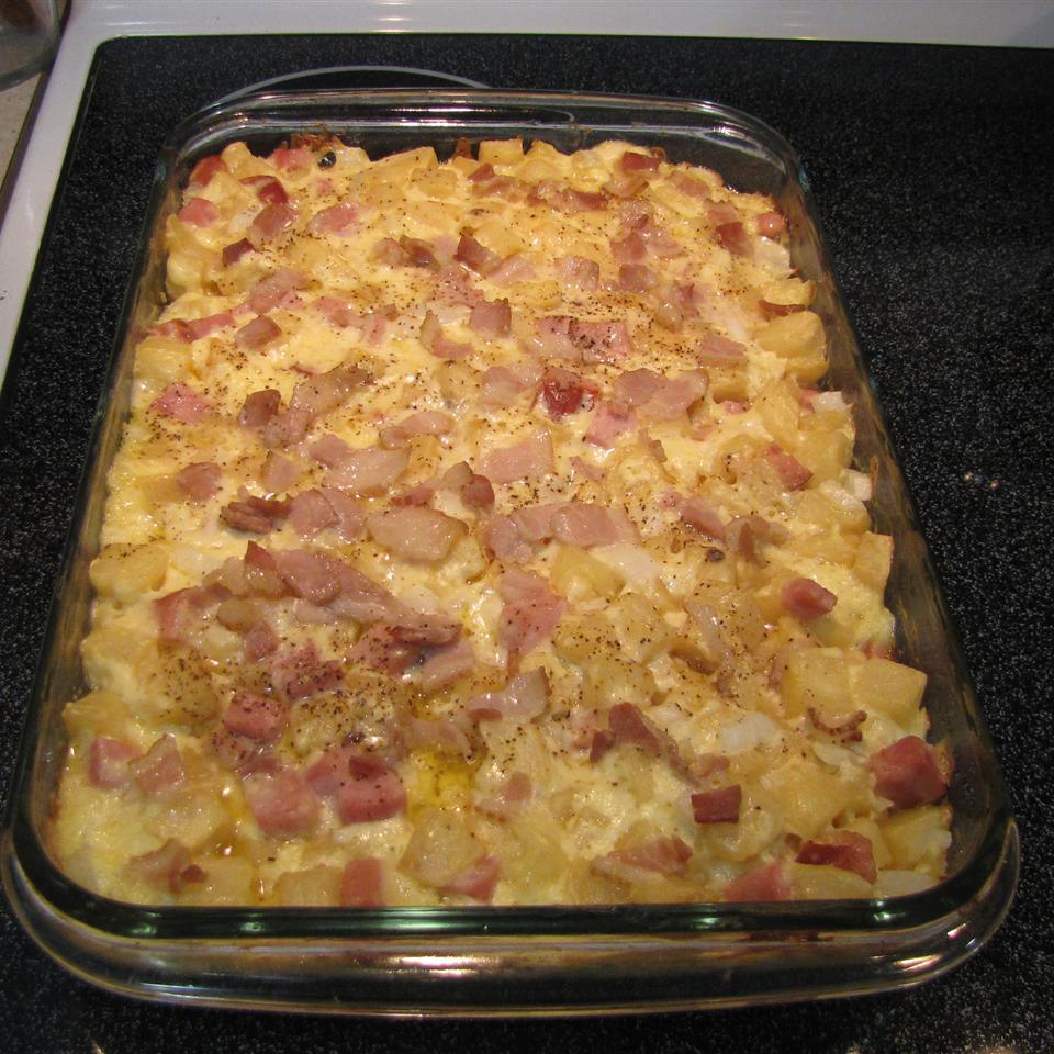 Cheesy Ham Potato Bake GourmetAnderson