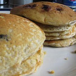 Oatmeal and Wheat Flour Blueberry Pancakes KiwiOz0708