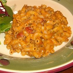 Macaroni and Cheese with Ground Beef, Salsa and Green Chiles Ben S.