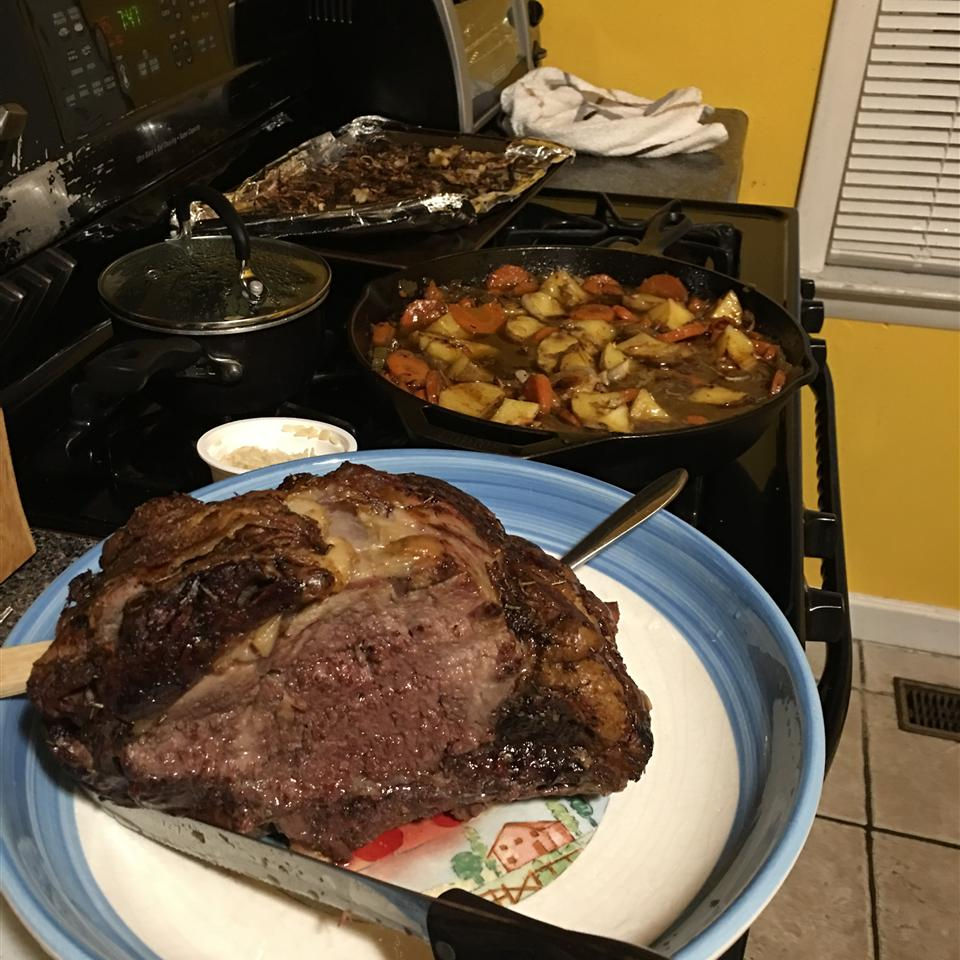 Chef James Holiday Prime Rib with Cabernet and Dried Cherry Sauce John Bracero