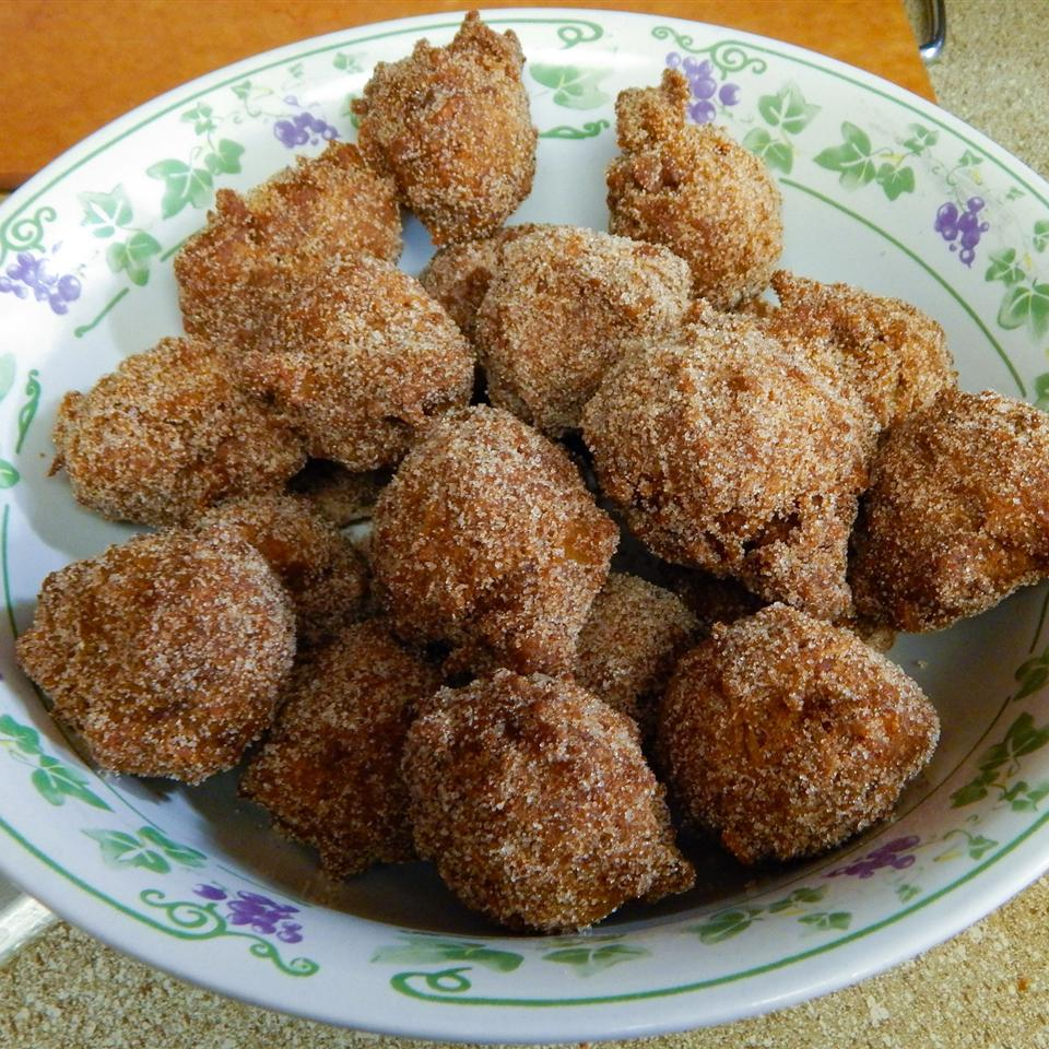 Carrot Cake Donut Holes with Cream Cheese Dip Heather Landon