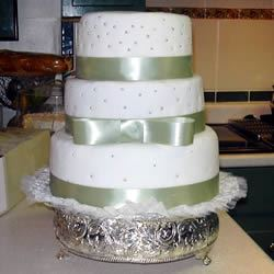 White Wedding Cake Andrea F