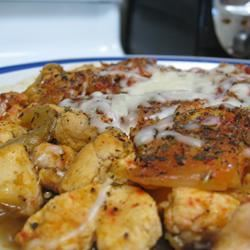 Mediterranean Chicken with Eggplant