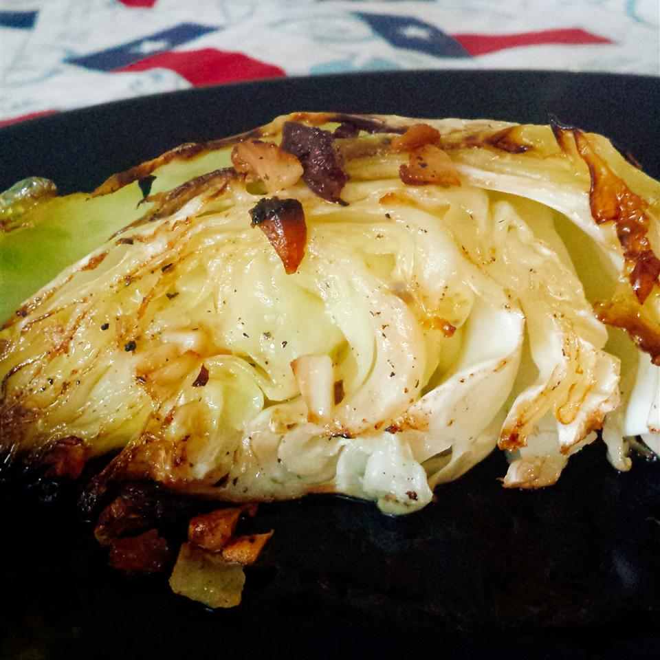 Garlic Loves Roasted Cabbage stephanie whitmire