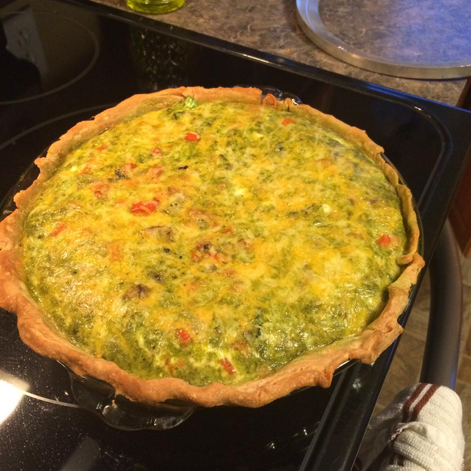 Loaded Vegetarian Quiche Joy Andrews