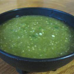 Green Hot Sauce (Salsa Verde) mommyluvs2cook