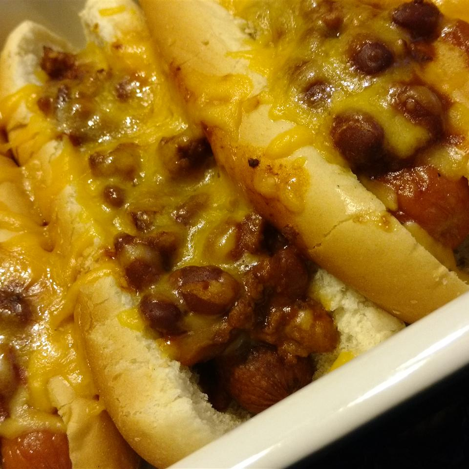 Baked Chili Hot Dogs Carrie C.