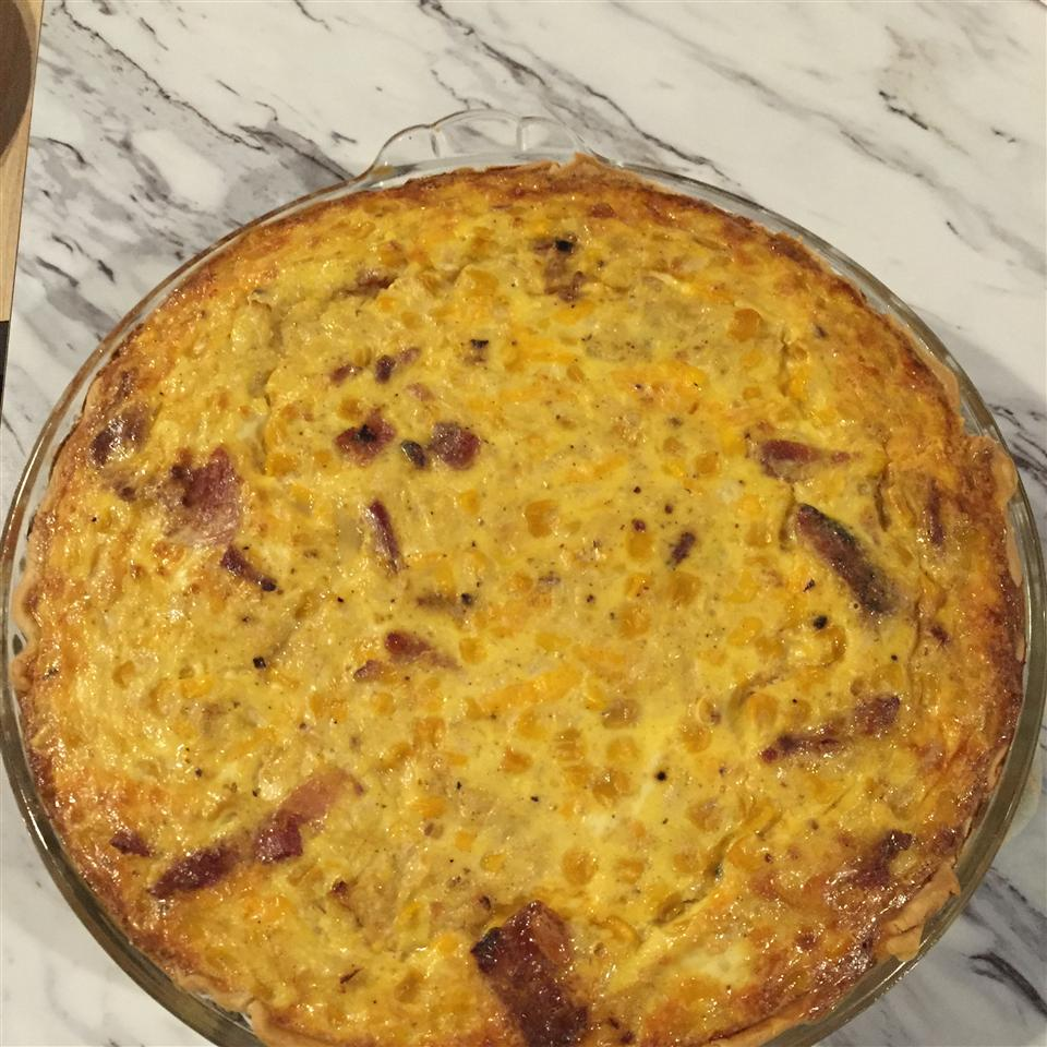 Bacon and Cheddar Cheese Quiche Larry Tipper