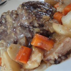 Kathy's Roast and Vegetables larkspur