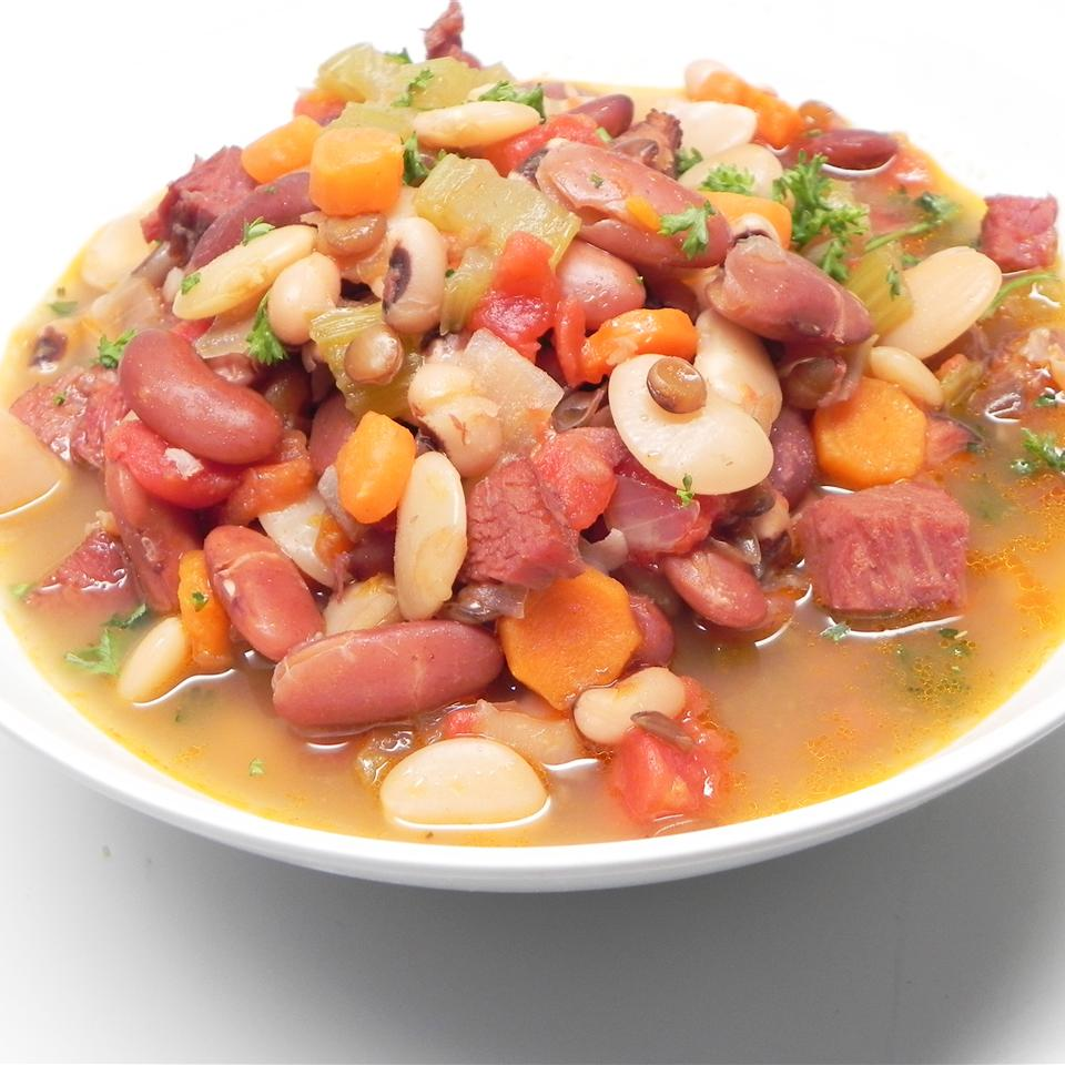 Rick's Spicy Beans and Ham