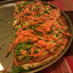 Thai Chicken Pizza with Carrots and Cilantro Samieh