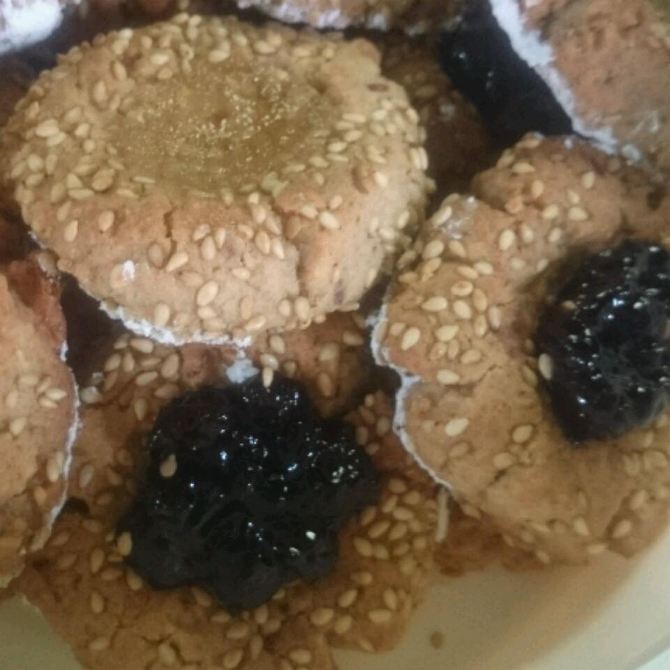 Sesame Thumbprint Cookies