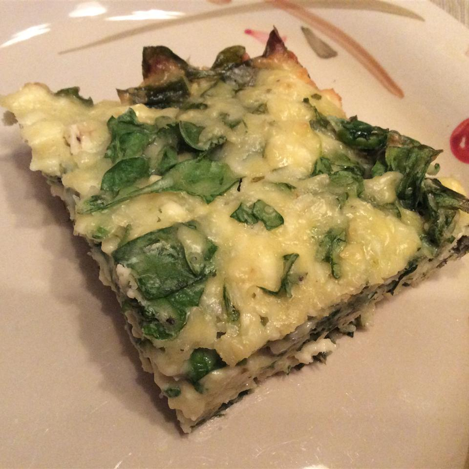 Greek Spinach and Cheese Quiche Squares 2ys4you