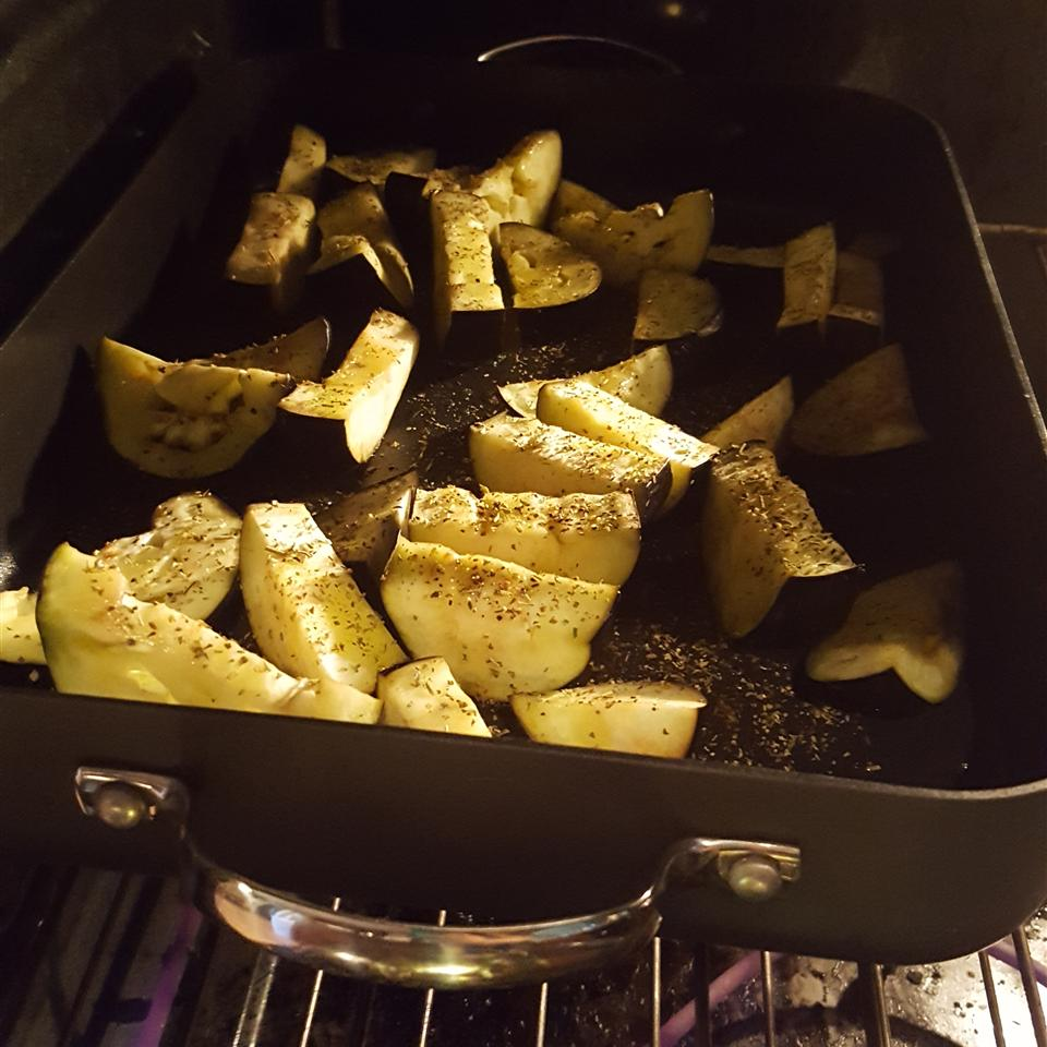 Olive Oil Roasted Eggplant with Lemon Rachel Verney