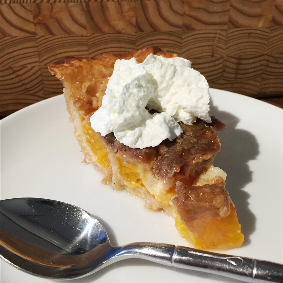 Easy French Peach Pie