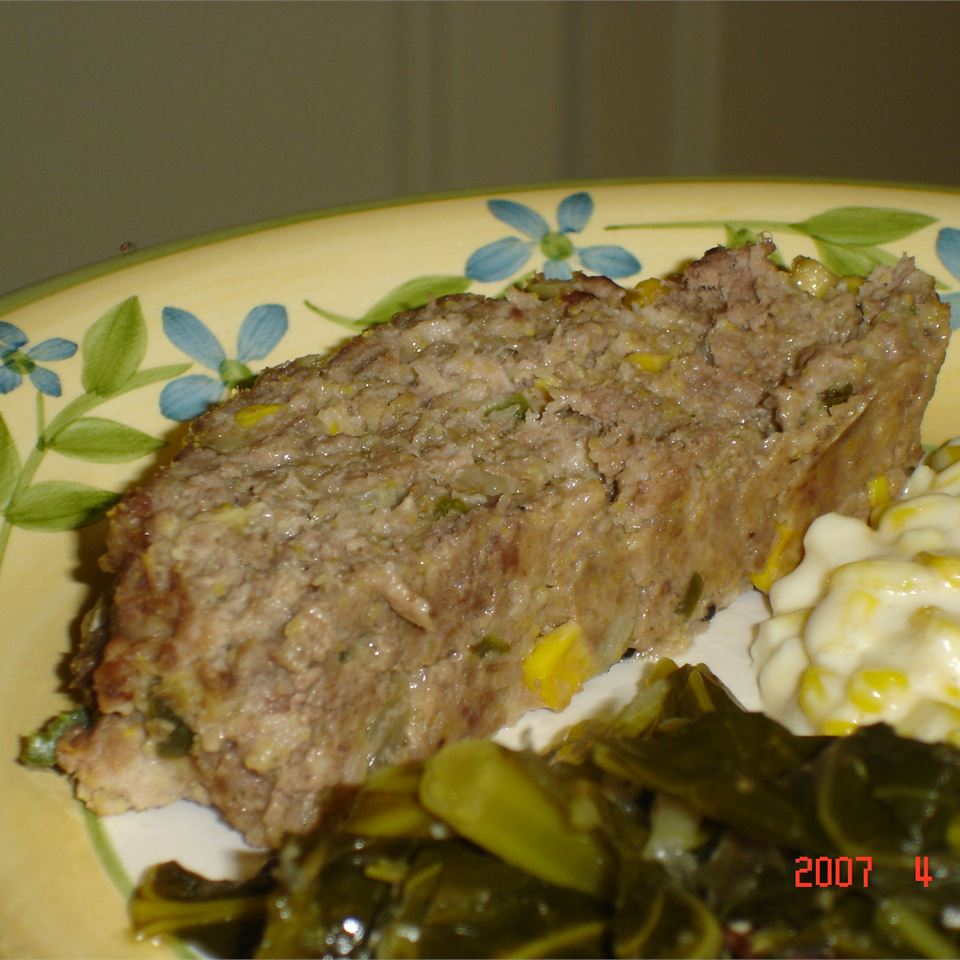 Dad's Down Home Cornbread and Jalapeno Meatloaf