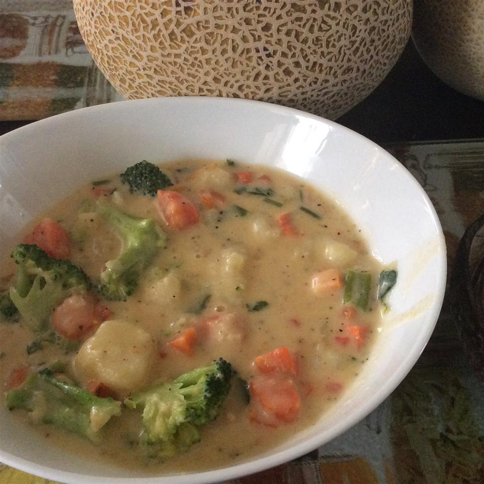 Cheesy Vegetable Soup II TheKhrish