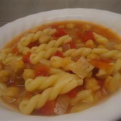Garbanzo Tomato Pasta Soup amandak23k