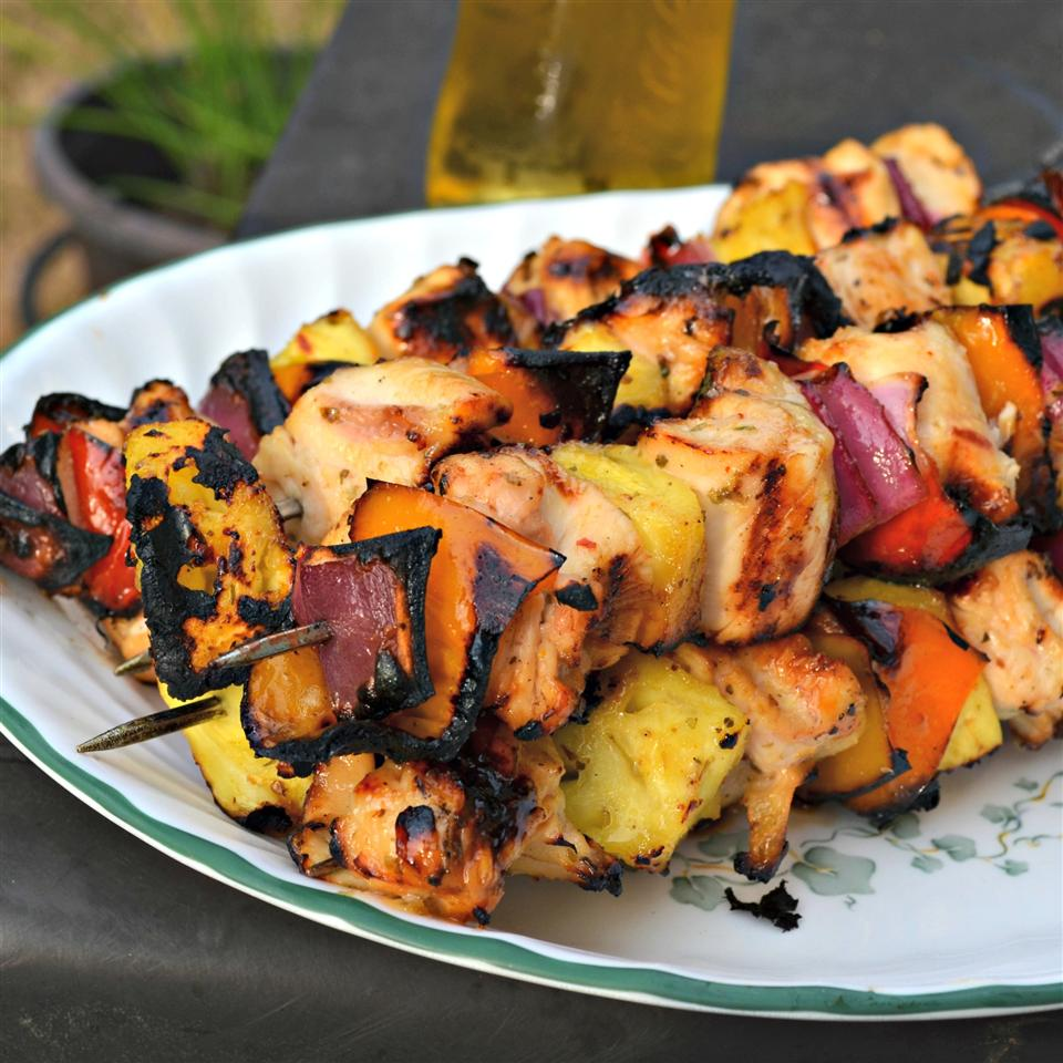 Caribbean-Inspired Grilled Chicken Kabobs