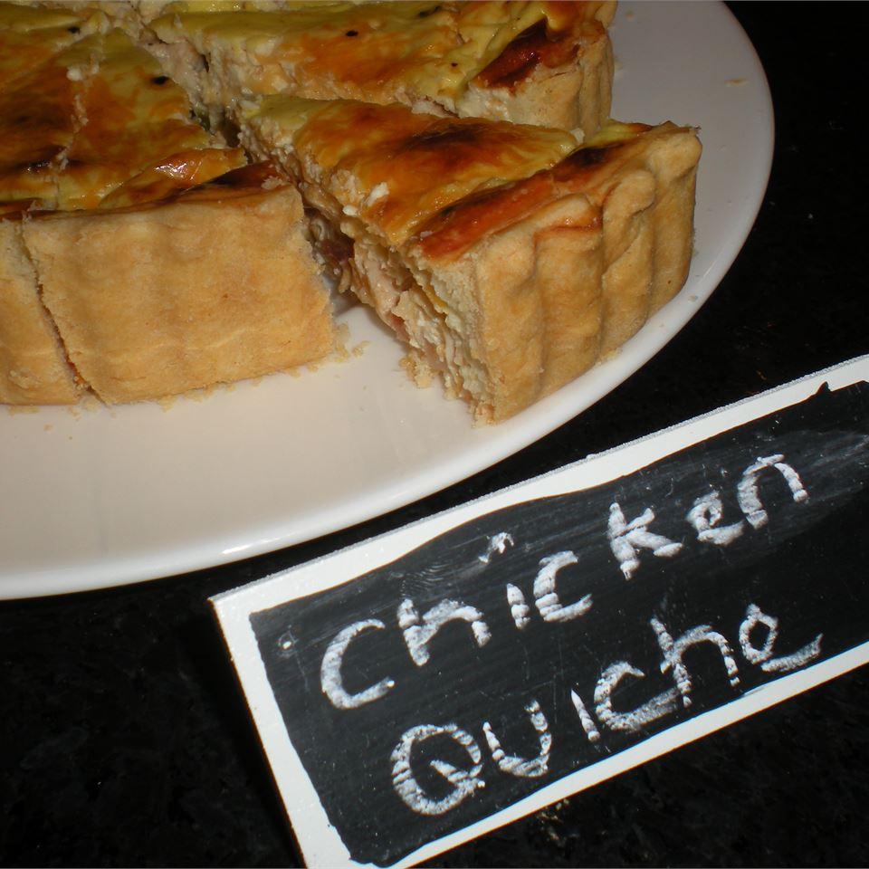 Sour Cream Chicken Quiche TheBritishBaker