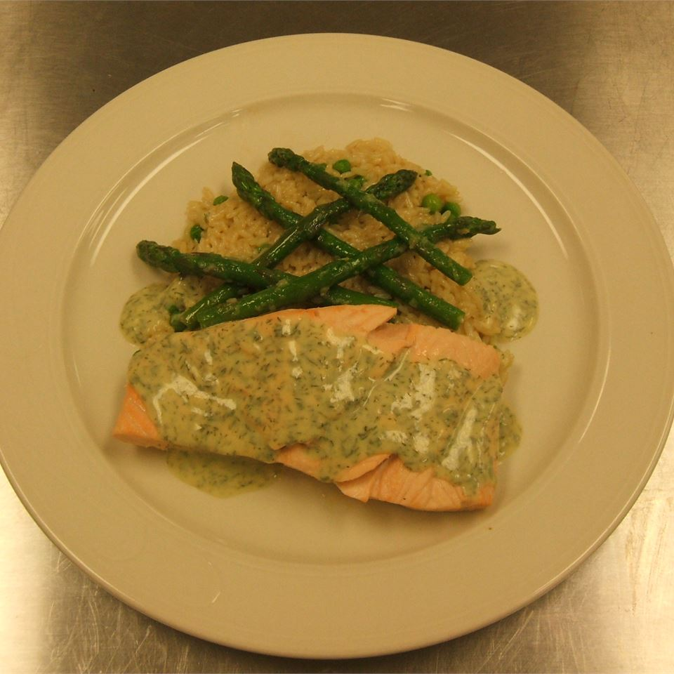 Quick Poached Salmon with Dill Mustard Sauce Chef Kev