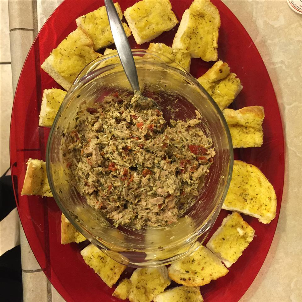 Pesto Tuna Salad with Sun-Dried Tomatoes Kristen Renee Forhetz