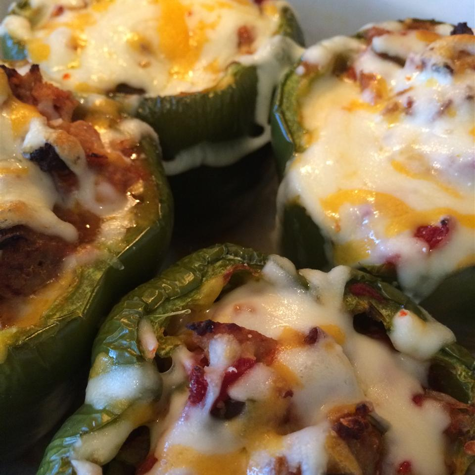 Mexican Chicken-Stuffed Peppers Misty Meeks