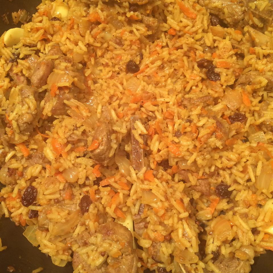 Uzbek Plov (Lamb and Rice Pilaf) Mrs. Z.
