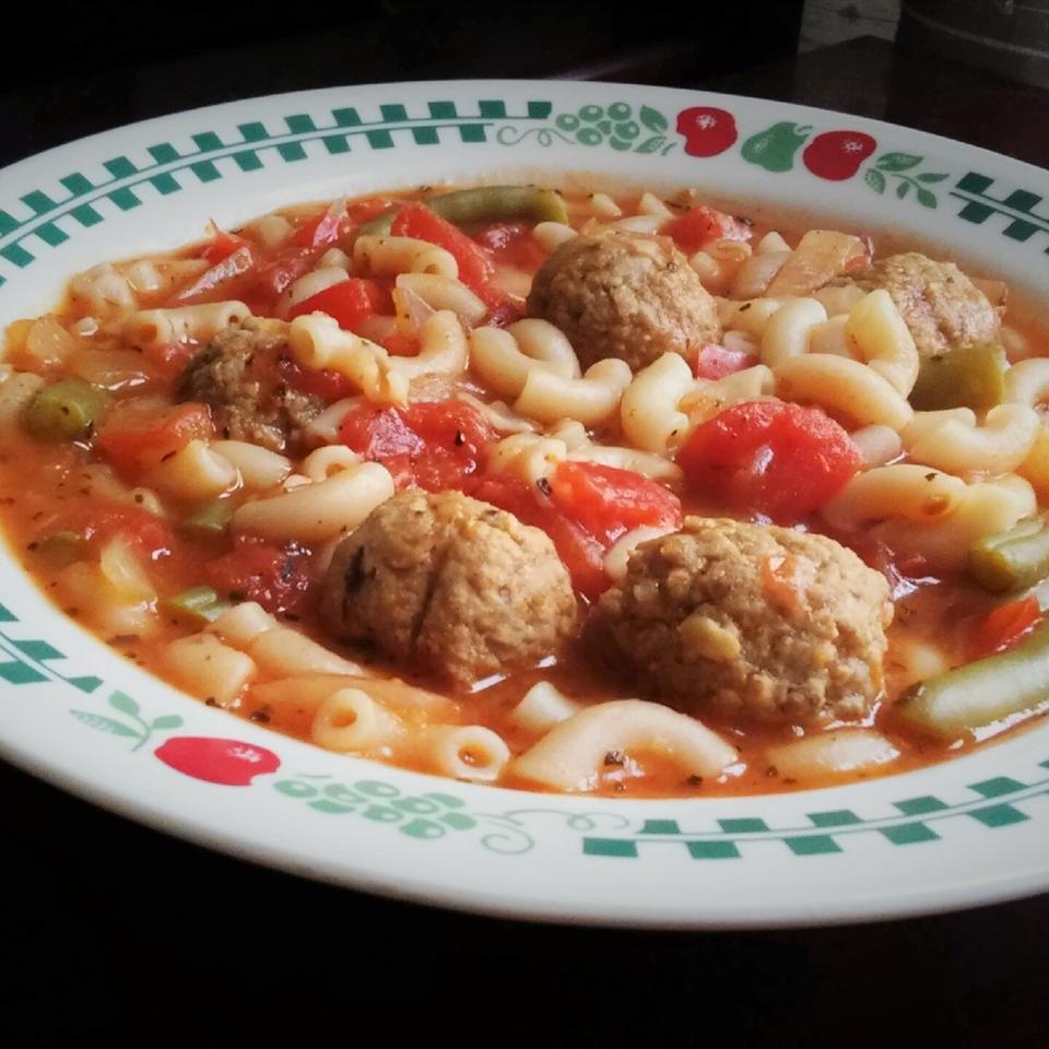 Macaroni Meatball Soup