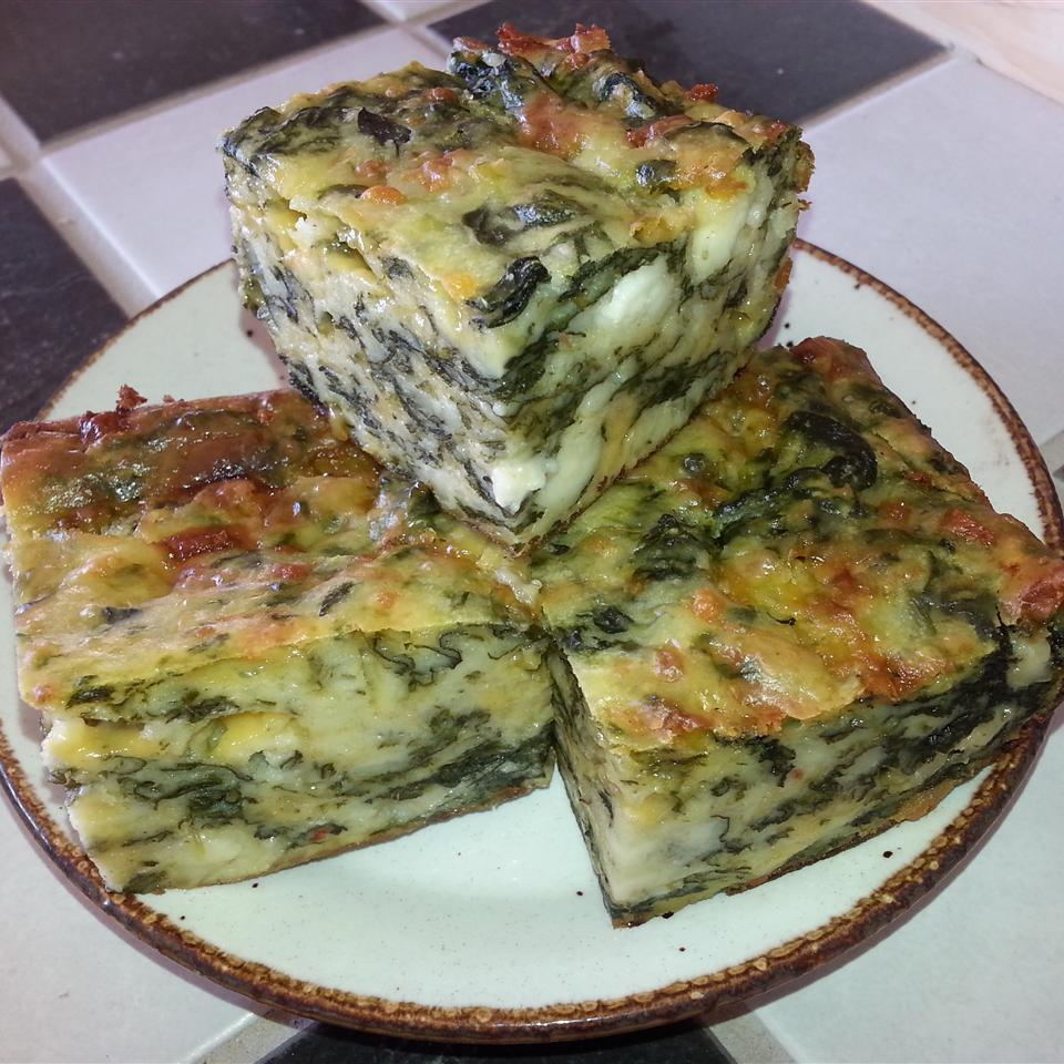 Greek Spinach and Cheese Quiche Squares